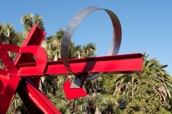 Detail of Suvero's Sieve of Eratosthenes.