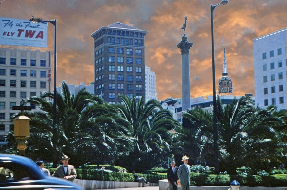 San Francisco, 1954, Union Square and Photoshop Sky