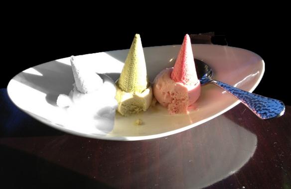 Desert: Three Petit Ice Cream Cones