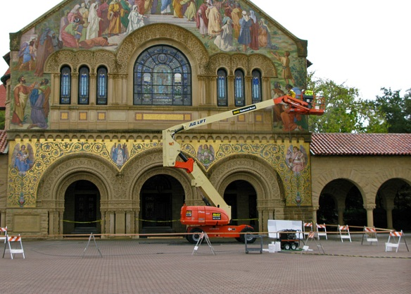 Memorial Church is getting a summer wash up.