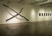 "X, Graphite on Modesto Ash, 192"" x 120"" x 48""; Chris Sicat, 2012"