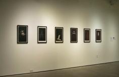Invisible Woman (series), Graphite on newspaper; Francesca Pastine