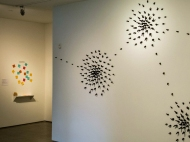 Migratory Marks #7: The Bus Stops here; Graphite, Clay, mixed media; Valerie Wilcox, 2014