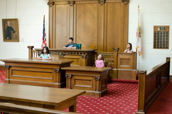 Children Preside, Judge Buck's Court, Redwood City, CA