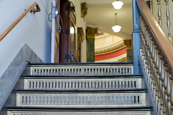 Stairs to Judge Buck's Courtroom, Redwood City, CA