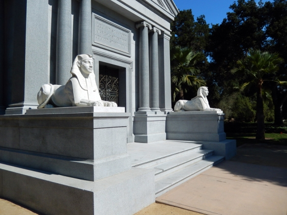 Stanford Mausoleum, Sphinxes and Greek Columns