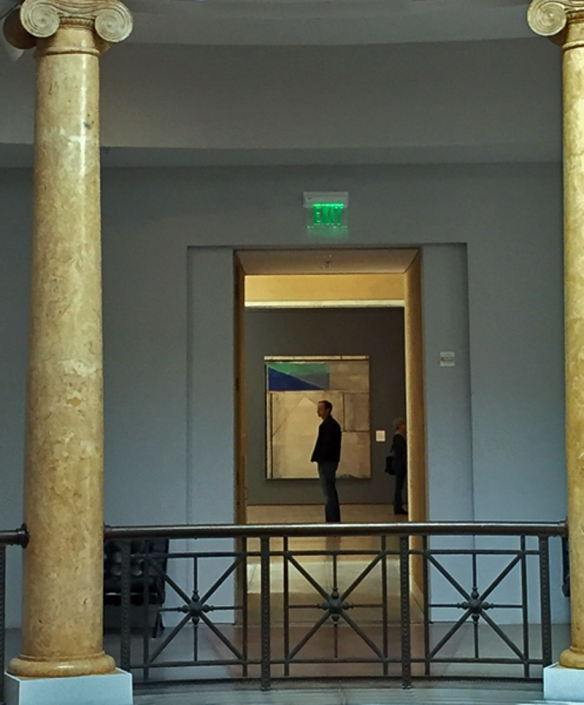 Looking through the Ionic columns of the West Rotunda to the Modern Art wing.