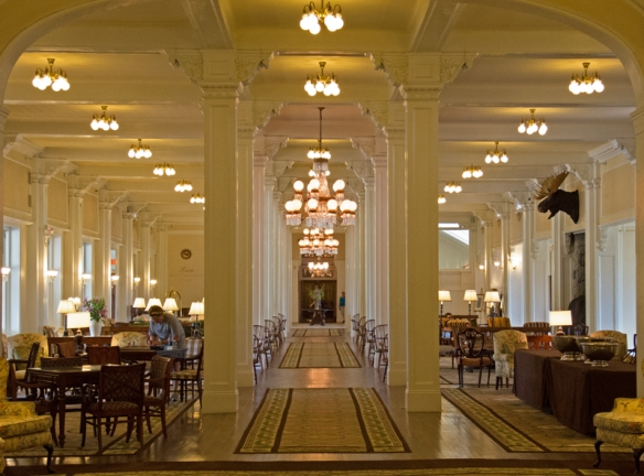 Main lobby of the Mt Washington Hotel.