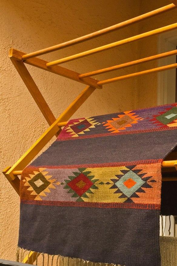 Zapotec rug, hand-woven in Oaxaca, Mexico
