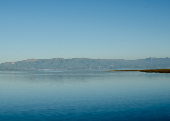 Looking Across San Francisco Bay on a Winter Day.
