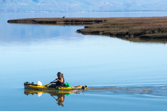 Kayaking in San Francisco Bay.