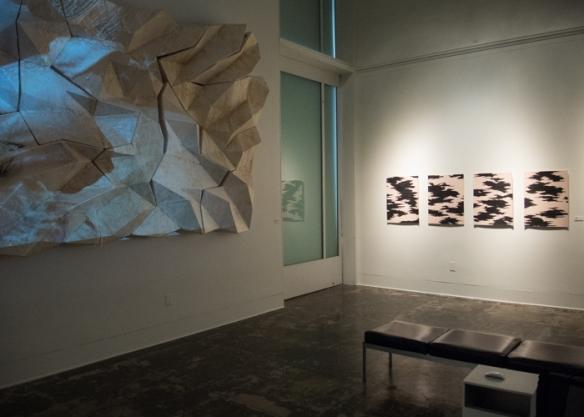 Four silkscreens by Masako Miyazaki (in the spot light)