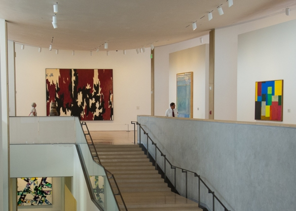 Grand Stairway to 2nd Floor Gallery, Anderson Collection at Stanford University