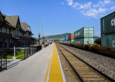 Amtrak Depot, Whitefish Montana (click image to enlarge)