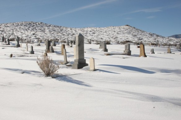 Bearcreek Cemetery, where many of the miners were buried, Billings Gazette, 2013