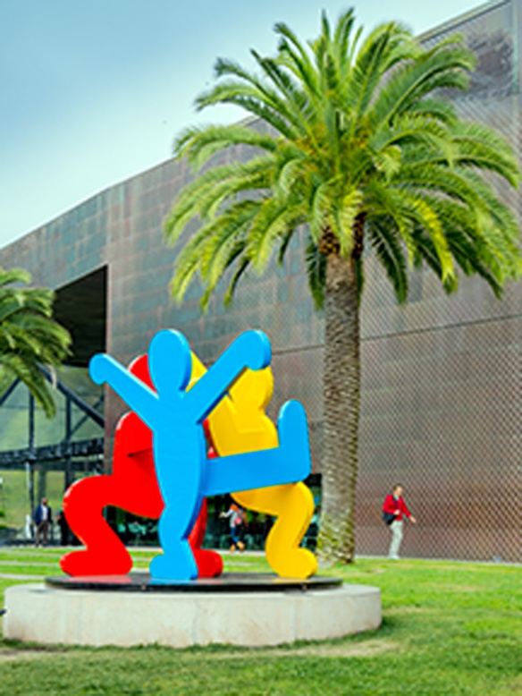 Three Dancing Figures, Keith Haring, 1989, San Francisco