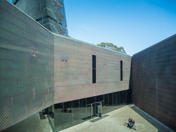 Goldsworthy Courtyard and  Entry to the De Young Museum, Golden Gate Park, San Francisco