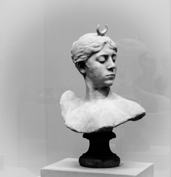 The Huntress, Bust of Diana, Falguiere, 1882, California Palace of the Legion of Honor