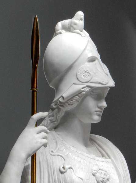 Marble replica of Minerva Giustiniani by Antonio Frilli (about 1900)