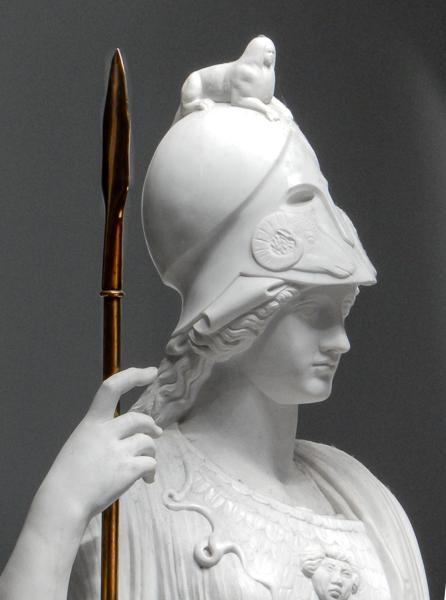 Marble replica of Minerva Giustiniani by Antonio Frilli (about 1900)