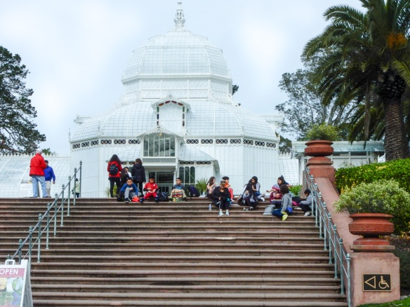 Preschoolers Eating Lunch, Conservatory of Flowers, Golden Gate Park, SF