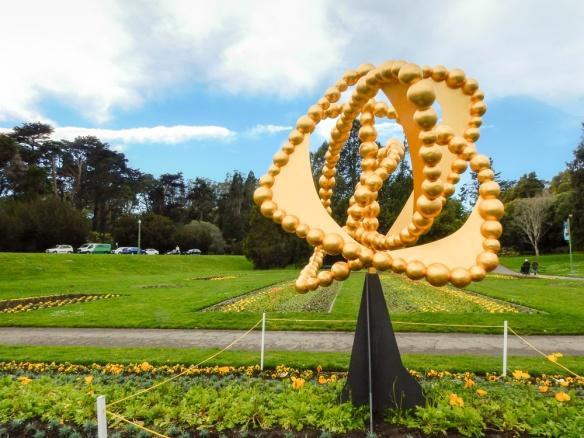 Blue Sky and a Golden Sculpture, Golden Gate Park, SF