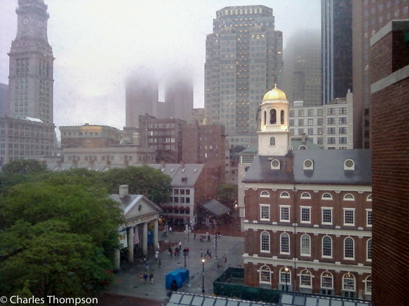 Historical Boston, Quincy Market and Faneuil Hall