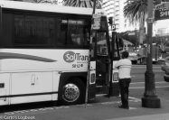Waiting for the bus, SF, 2016