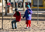 Friends at a playground, Northern Argentina