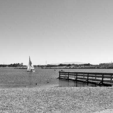 Sailboat on Shorline Lake, Sunnyvale, October 2017