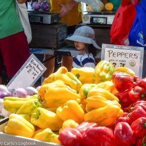 Tomatoes and Peppers at the Palo Alto Farmers' Market
